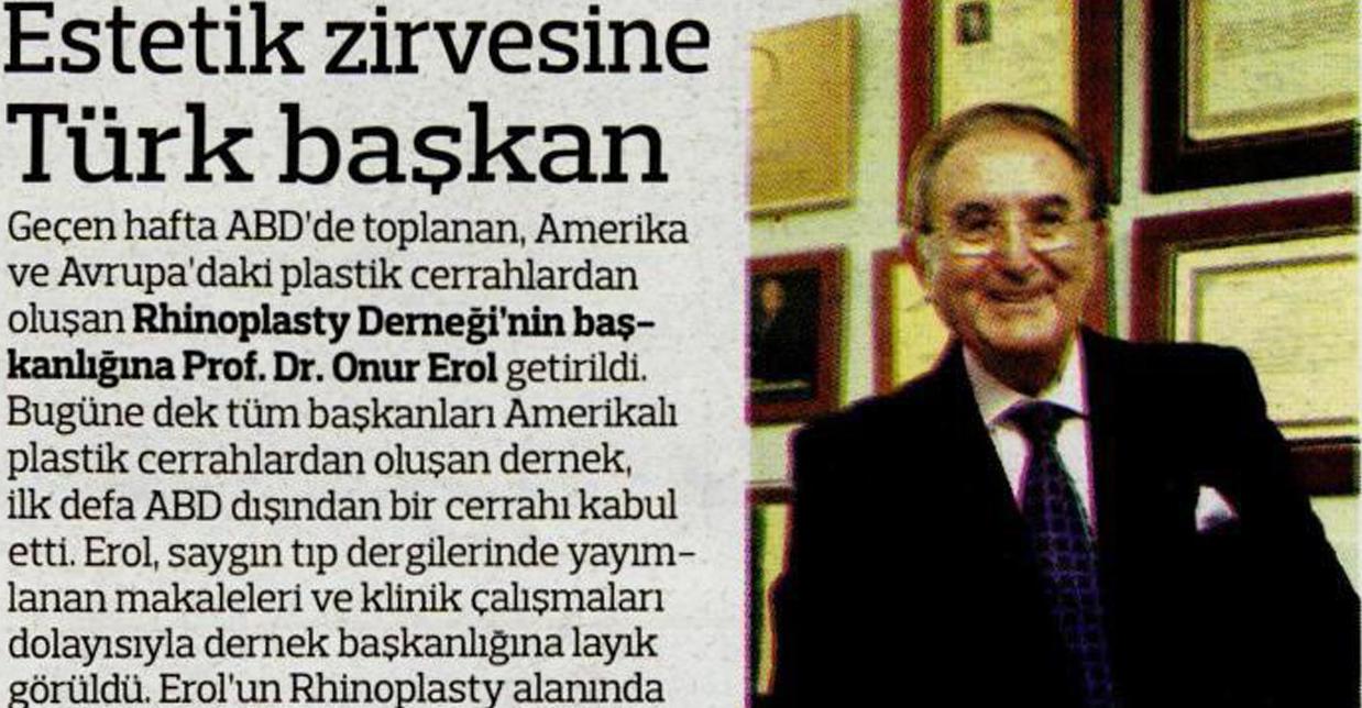 Estetik Zirvesine Türk Başkan