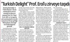 ''Turkish Delight'' Prof. Erol'U Zirveye Taşıdı