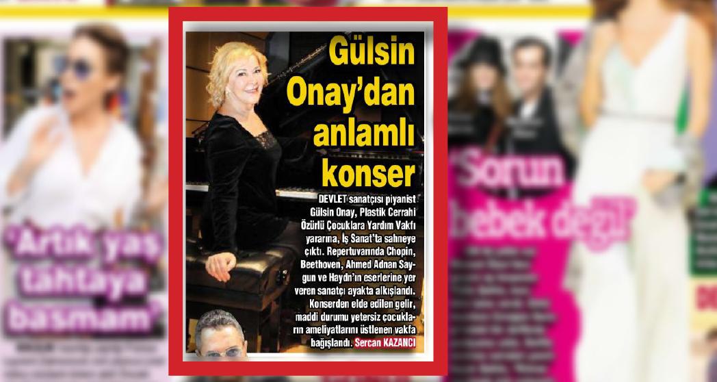 Gülsin Onay'dan Anlamlı Konser