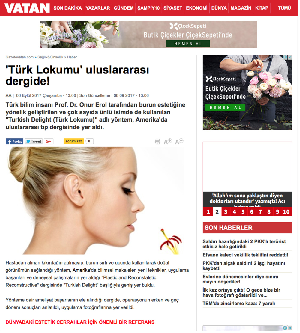 """""""Türk Lokumu Yöntemi Uluslararası Tıp Dergisinde"""" - Gazeteler"""