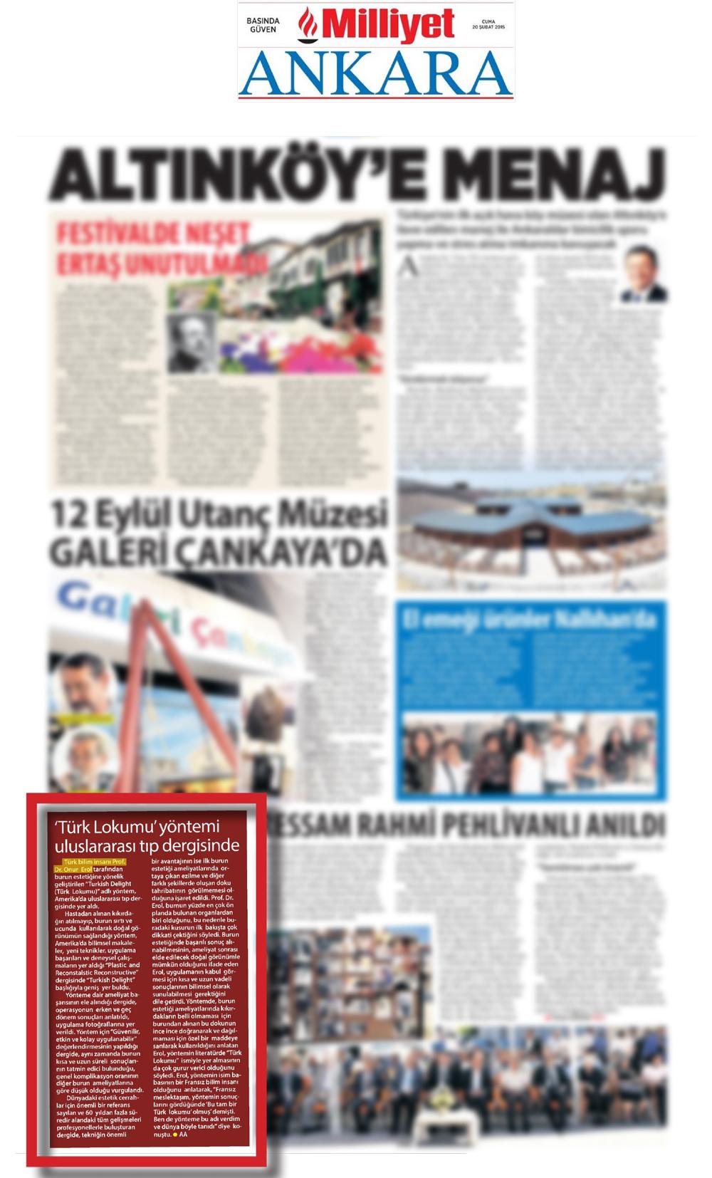 Türk Lokumu Yöntemi - Milliyet Ankara